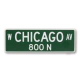 Chicago Ave Street Sign Sticker