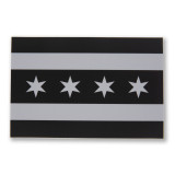 Greyscale Chicago Flag Sticker