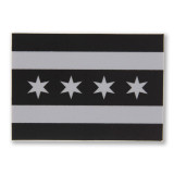 Mini Chicago Greyscale Flag Sticker