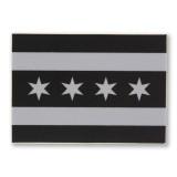 Mini Chicago Greyscale Flag Sticker