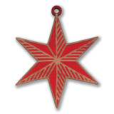 Chicago Red Star Wood Ornament