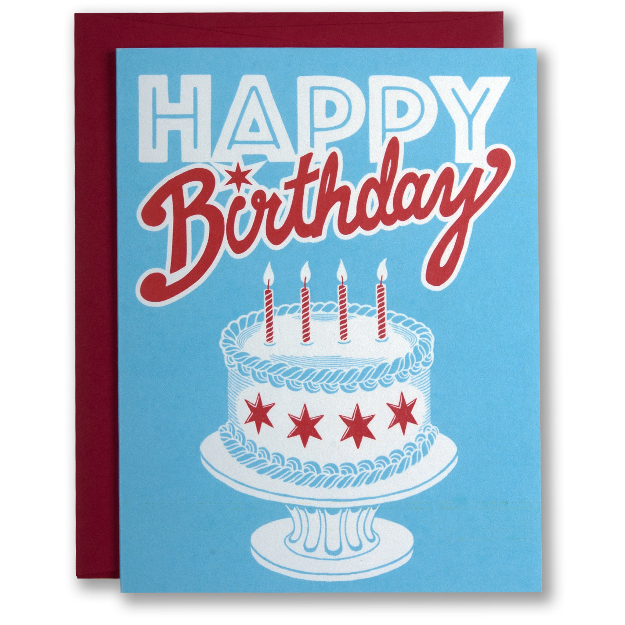 Wondrous Chicago Birthday Cake Greeting Card Personalised Birthday Cards Petedlily Jamesorg
