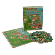 Prairie Style Stained Glass Neighborhood Map 1000 Piece Puzzle