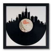 Upcycled Chicago Skyline Vinyl