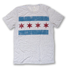 Distressed Chicago Flag Tee - Men's