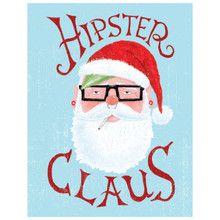 Hipster Claus - Greeting Card