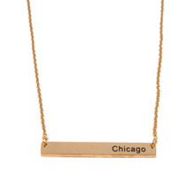 Chicago Coordinates Necklace