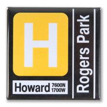 Yellow Line Transit Magnet