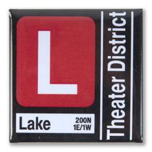 Red Line Transit Magnet