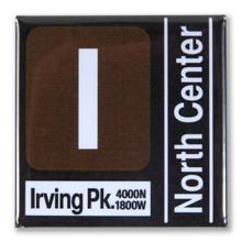 Brown Line Transit Magnet