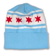 Chicago Flag Knit Beanie
