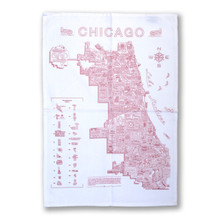 Neon Neighborhood Map Flour Sack Towel
