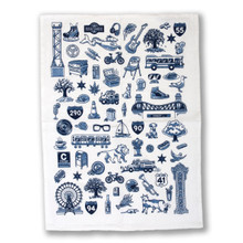 Chicago Icons Flour Sack Towel