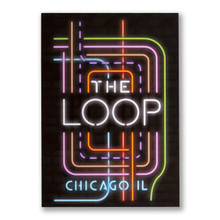 The Loop Neon Neighborhood Postcard
