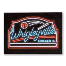 Wrigleyville Neon Neighborhood Postcard