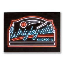 Wrigleyville Neon Neighborhood Postcard