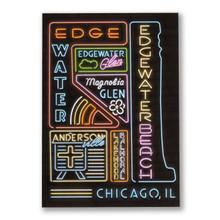 Edgewater Neon Neighborhood Postcard