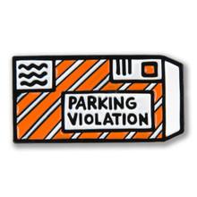 Parking Ticket Icon Enamel Pin