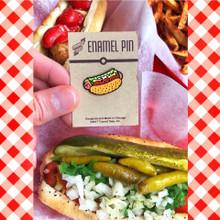 Chicago Style Hot Dog Icon Enamel Pin