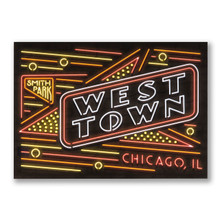 West Town Neon Neighborhood Postcard