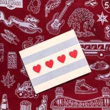 Heart Chicago Flag - Greeting Card