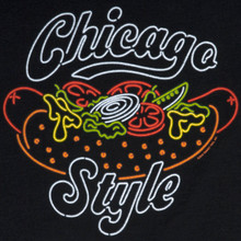 Neon Chicago Style Hot Dog Tee - Women's