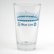 CTA Blue Line Pint Glass
