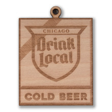 Drink Local Sign Wood Ornament