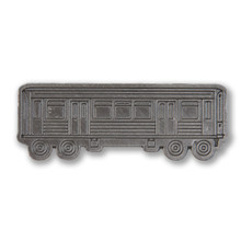 Metallic El Train Pin