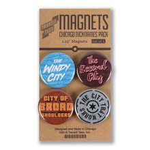 Chicago Nicknames Round Magnet Pack