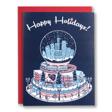 Chicago Snow Globe Holiday Card