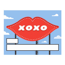 Magic Kiss Sign Your Name - Greeting Card