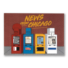 News From Chicago Postcard