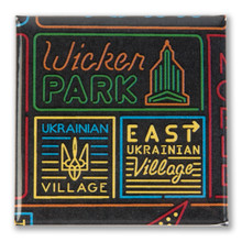 Wicker Park Neighborhood Magnet