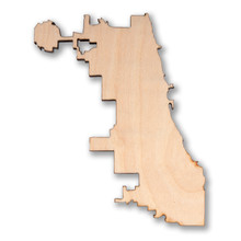Chicago City Limits Wooden Magnet