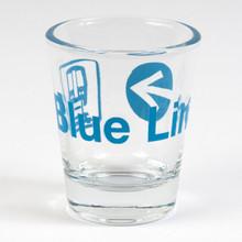 Blue Line Shot Glass