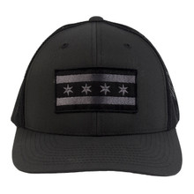 Chicago Flag Trucker Hat - Charcoal