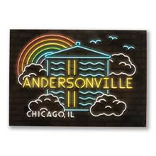 Rainbow Andersonville Neighborhood Postcard