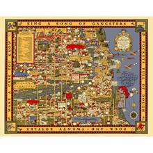 Chicago Gangland Map 1000 Piece Puzzle
