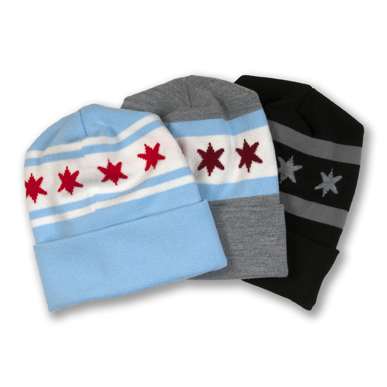 Chicago Flag Knit Beanie eaab283e588