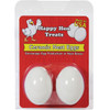 happy hen ceramic eggs white