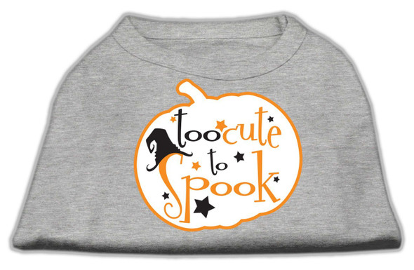 too cute to spook dog shirt