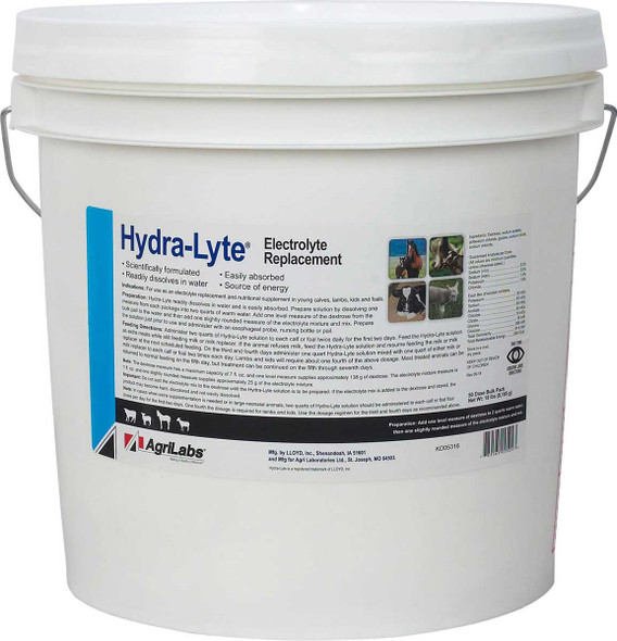 An electrolyte replacement and nutritional supplement for young calves