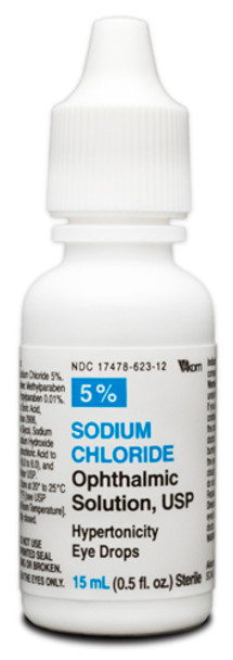 Sodium Chloride Ophthalmic Solution 5%, 15mL