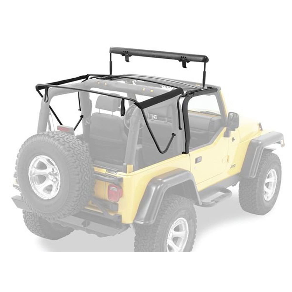 Jeep Soft Tops >> 97 06 Tj Factory Style Soft Top Bow Kit