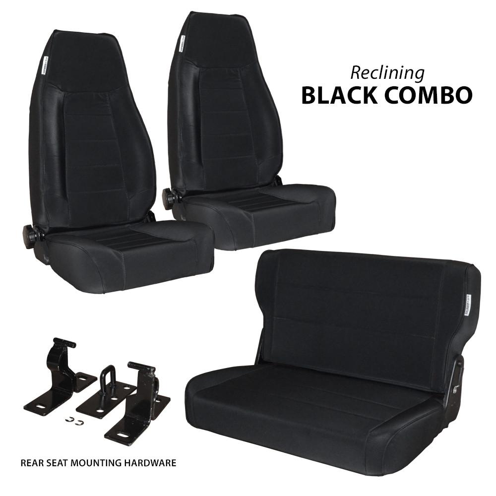 Cool 76 95 Cj Yj 2 Reclining Front Seats W Rear Fold Tumble Beatyapartments Chair Design Images Beatyapartmentscom