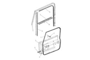 Steel Door Parts Jeep Parts