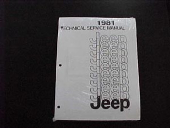 '81 Jeep Service Manual (Body/Chassis)