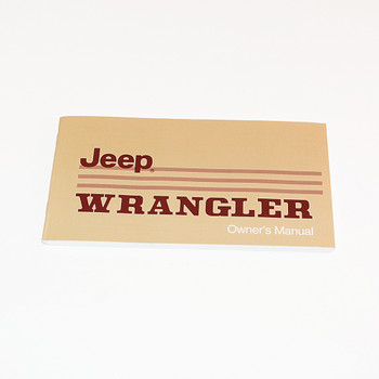 1987 YJ Factory Owners Manual