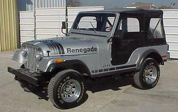 '79-'80 CJ Renegade Decal Kit